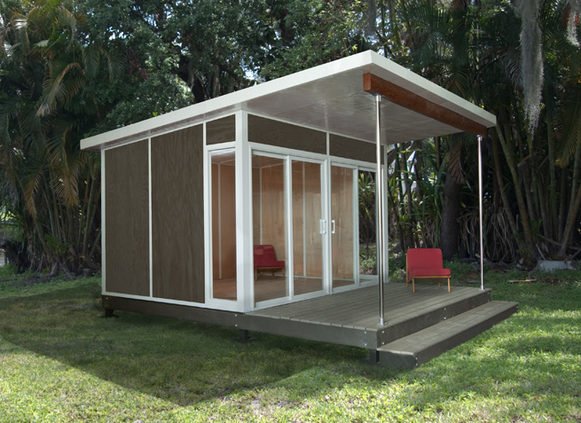 Pre fab modern sheds revolutionary gardens for Building an office shed in the backyard