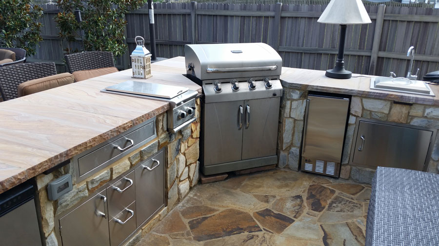 Can i use my freestanding grill as a built in grill for Building an outside kitchen