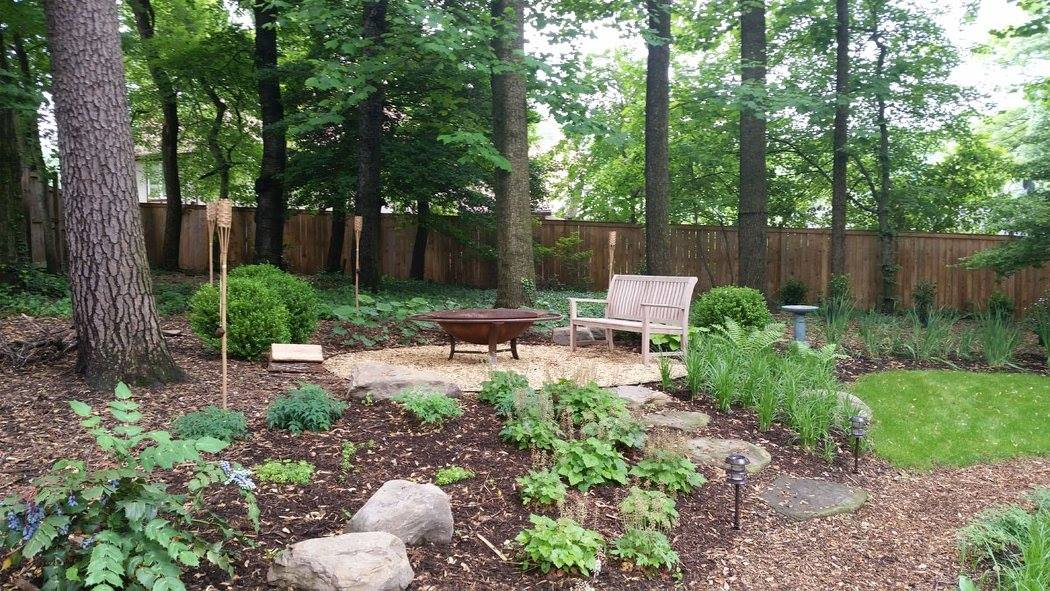Landscaping a wooded lot - Revolutionary Gardens on Wooded Backyard Ideas id=40752