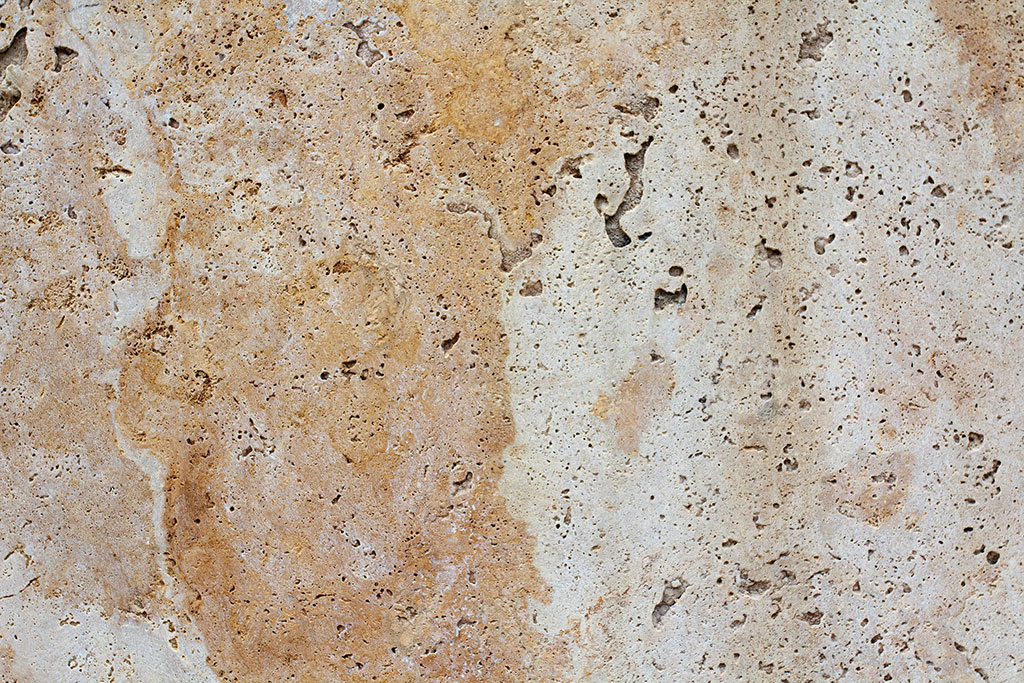closeup of travertine